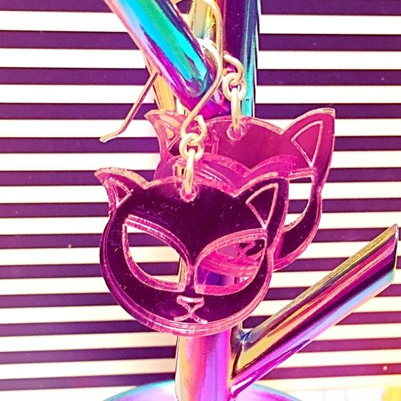 c36f252f40 steven shein Jewelry | Perspex Earrings Alien Kitty Cat | Poshmark